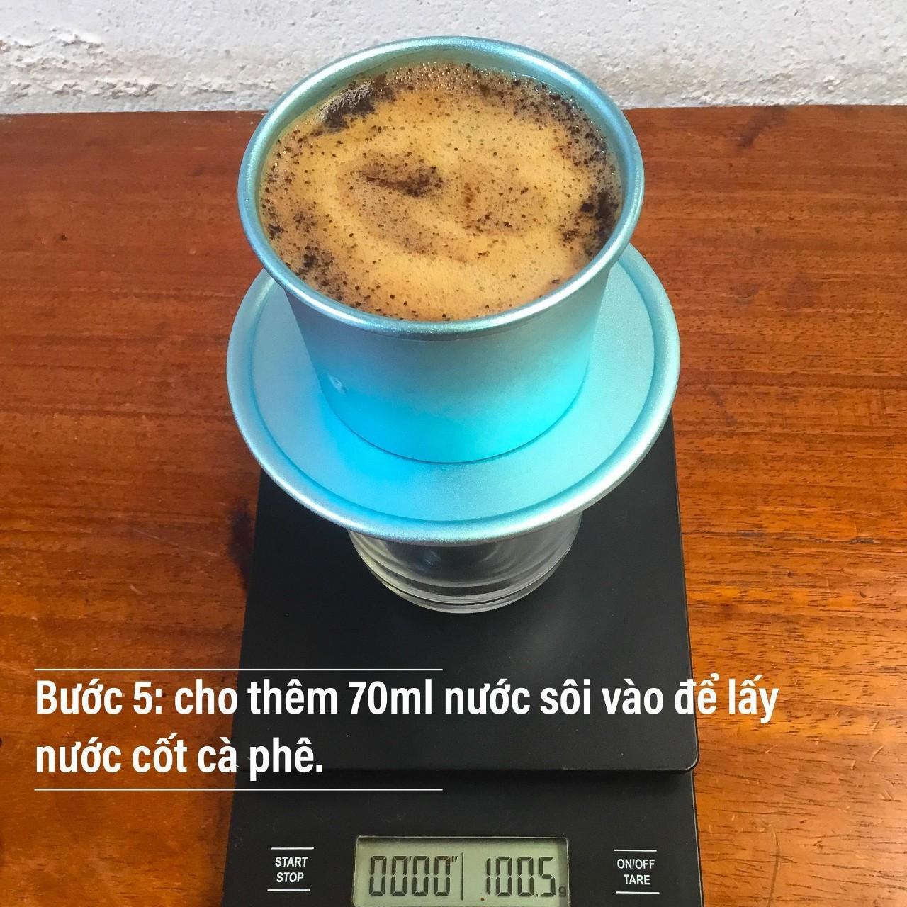 Cách pha cà phê ngon - Bước 1